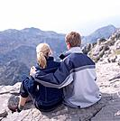 Young Couple in Mountain Landscape
