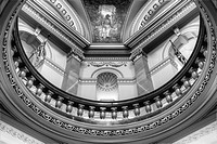 The rotunda in the Legislature, Victoria, British Columbia, Canada.