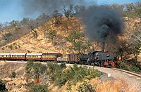 Africa, Zimbabwe, steam locomotive