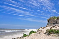 coastal landscape of Baltrum island, Germany, Lower Saxony, Baltrum
