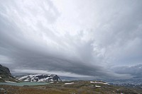 storm over Hardangervidda mountain plateau, Norway