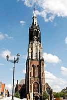 Hisorical medieval New Church in Delft