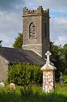 Old disused protestant church and graveyard at Horseleap, County Westmeath, Ireland