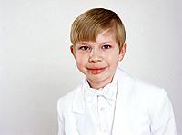 Boy Wearing White Tuxedo