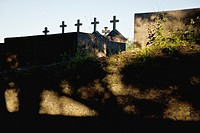 Graveyard crosses along the Camino de Santiago