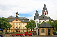 town hall and evangelic church, Germany, Rhineland_Palatinate, Kirn