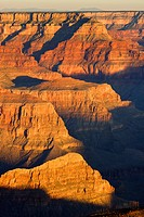 light and shadow at rock walls of Grand Canyon, USA, Arizona, Grand Canyon National Park