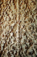 Sculpted wall at corridor of Angkor Wat, Cambodia