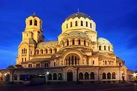 St Alexander Nevsky Cathedral at Dusk, Sofia, Bulgaria