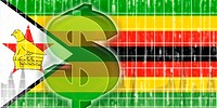 Flag of Zimbabwe finance economy