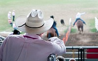 Man watching Rodeo in Pendleton, Oregon