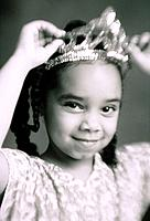 Girl Wearing Tiara