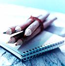 Wooden Pencils and Notepad