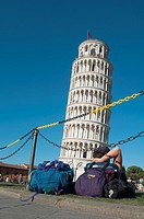 Italy, Tuscany, Pisa, Piazza dei Miracoli, Leaning Tower