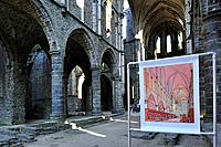 The Villers Abbey ruins, an ancient Cistercian abbey near Villers_la_Ville, Belgium