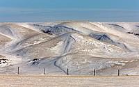 Badlands Saskatchewan in Winter