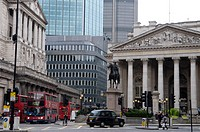 geography / travel, Great Britain, London, Bank of England and London Stock Exchange, exterior view,