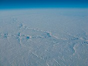 arial view of Labrador in march, 60th parallel, Canada, Labrador