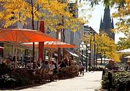 city of Herne with Kreuz church at Bahnhofstrasse, Germany, North Rhine_Westphalia, Ruhr Area, Herne