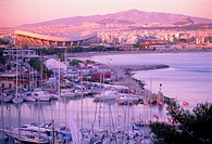 Harbour of Mikrolimano and Peace and Friendship Stadium, Athens, Greece