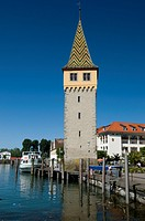 geography / travel, Germany, Bavaria, Lake Constance, Lindau harbour, Mangturm Mang tower,