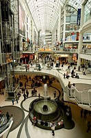 Inside of the Eaton Center, Toronto, Ontario