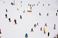 Skiers on a Hill, Whistler, British Columbia