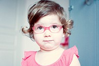 Little girl with glasses, portrait