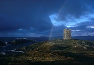 Rainbow and Castle Ruins