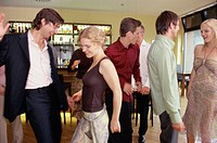 Young People Dancing in Bar