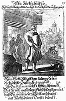 people, professions, confectioner, copper engraving, Staendebuch of Christoph Weigel, 1698, with vers by Abraham a Santa Clara,