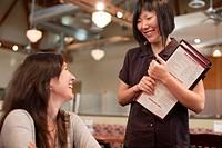 Waitress taking customer´s order