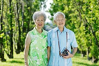 Portrait of Senior Couple in Park, Toronto, Ontario