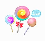 Drawing of lollipops