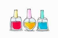 Drawing of different colors of manicures