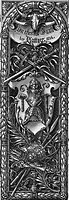 handcraft, guilds, guild sign of the Nuremberg armourers, 1524, wood engraving, 19th century,