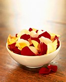 Bowl with rose petals