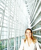 Business Woman in modern office building