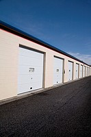 Row of Storage Units in British Columbia