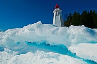 Lighthouse Surrounded by Ice, Tobermory, Georgian Bay