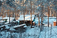 Russian village, Siberia. Cold Winter...