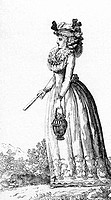 fashion, 18th century, Germany, copper engraving by Ernst Ludwig Riepenhausen, Goettinger Musenalmanach, 1795,