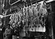 geography / travel, Greece, people, butcher`s shop in Thessaloniki, spring 1941,