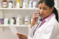 Pharmacist Telephoning