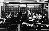 money / finance, stock exchange, New York, interior view, 1960s,