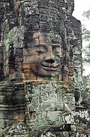 Cambodia, in Siam Reap. Temples of Bayon.
