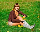 girl on green grass 2