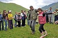 geography / travel, Georgia, tradition / folklore, Madoloba celebration, Girevi, Tusheti, August 2009,