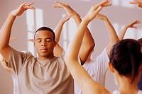 Meditating in Tai Chi Class
