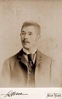 people, men, portrait of a man, cabinet card, Dana, New York, July 1890,